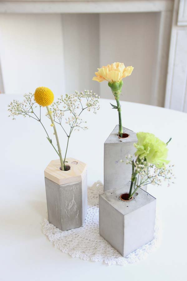 Vasos solitários de cimento