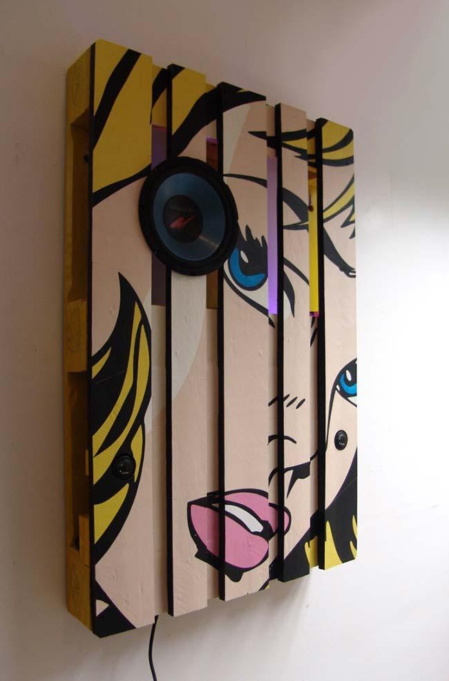 Artesanato com paletes e pop art