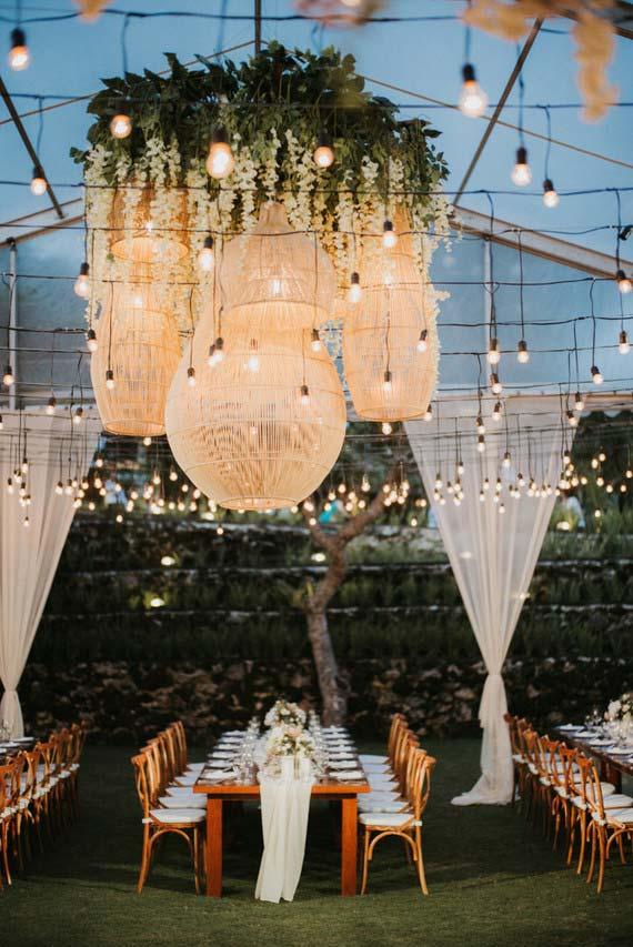 Lâmpadas pendentes para casamento 2018