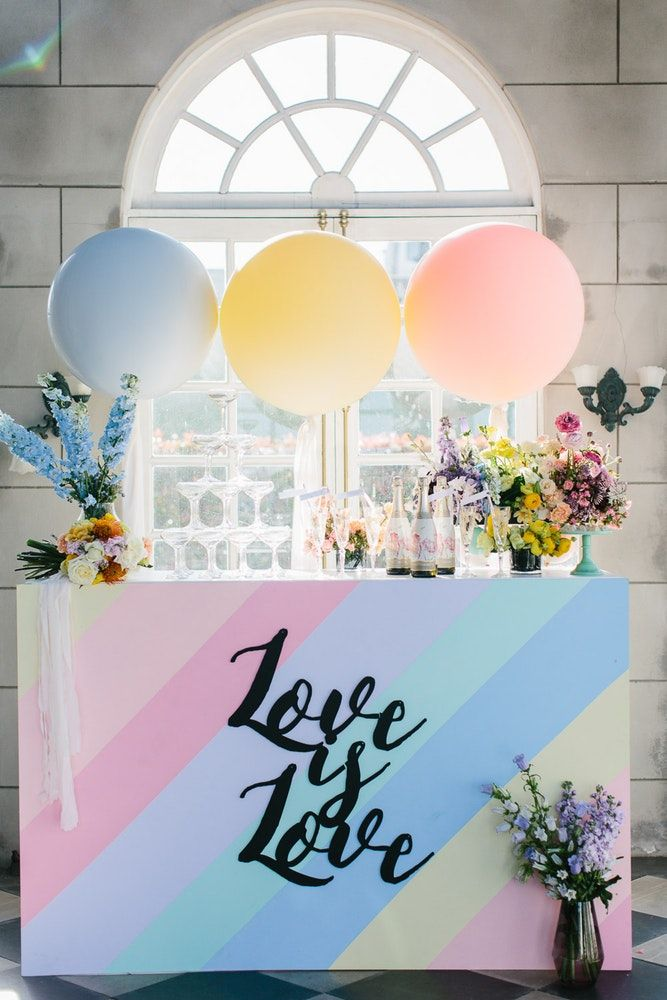 Tons pastéis na decoração de casamento 2018