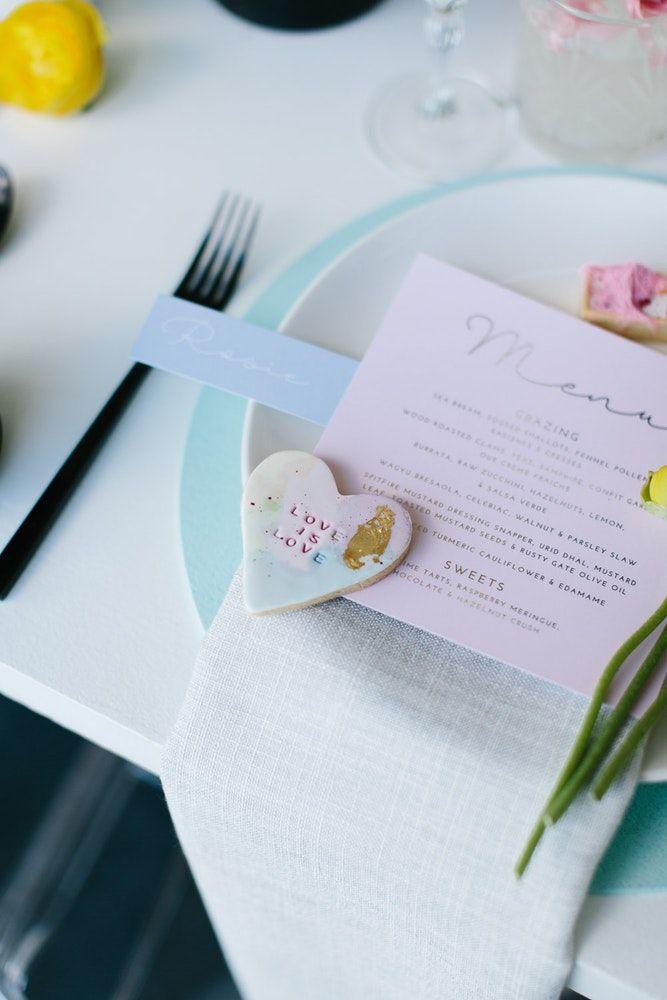Decoração de casamento 2018 com menu