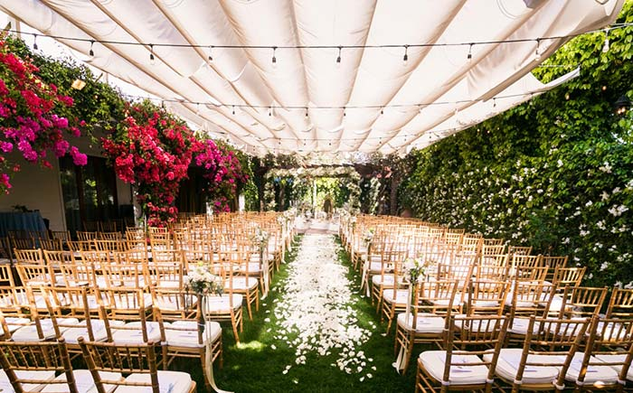 Jardim dentro do casamento