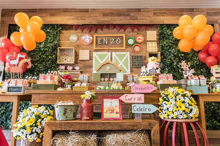Animaizinhos do sítio para decoração de festa junina