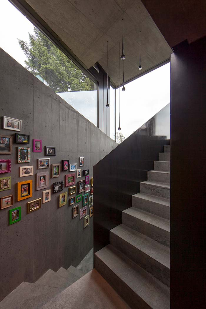 Concreto aparente nas escadas