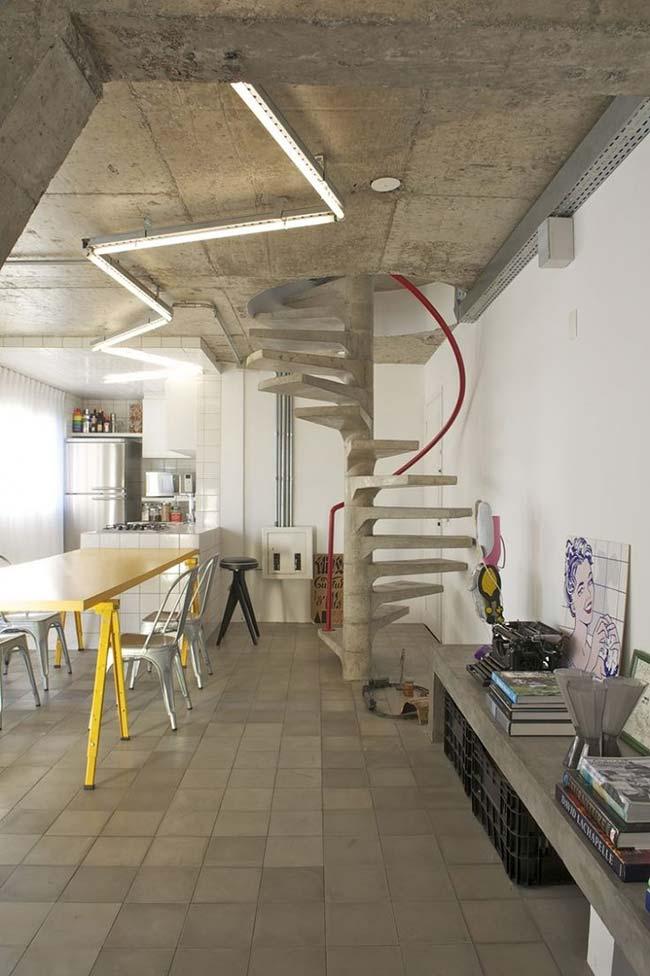 Concreto: o material escolhido para a escada