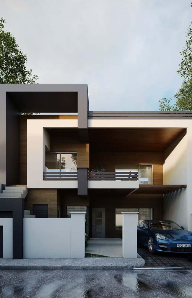 Casa em telhado aparente