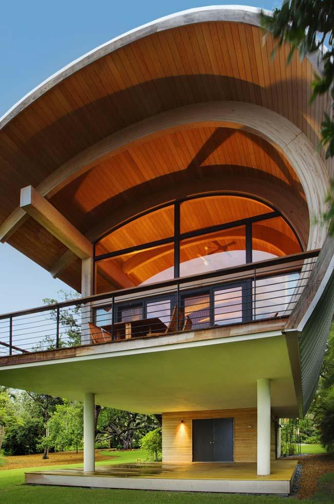 Modelo de telhado curvo