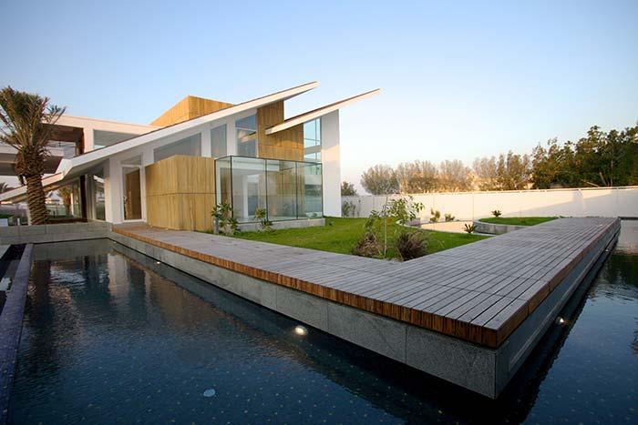 Projeto de arquitetura moderna com telhado Skillion