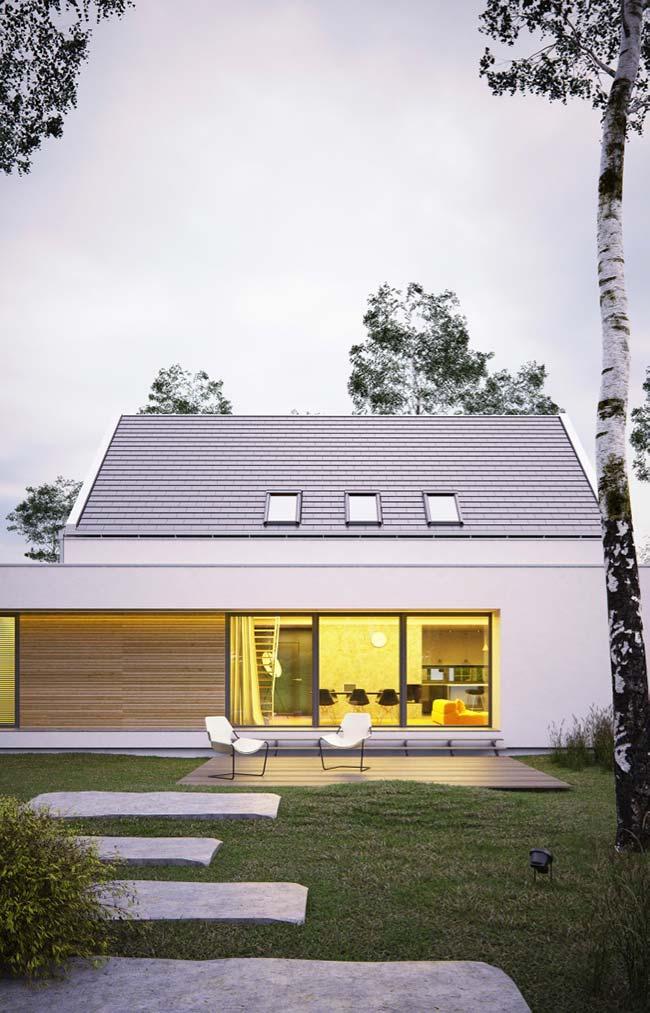Casa com telhado de cerâmica