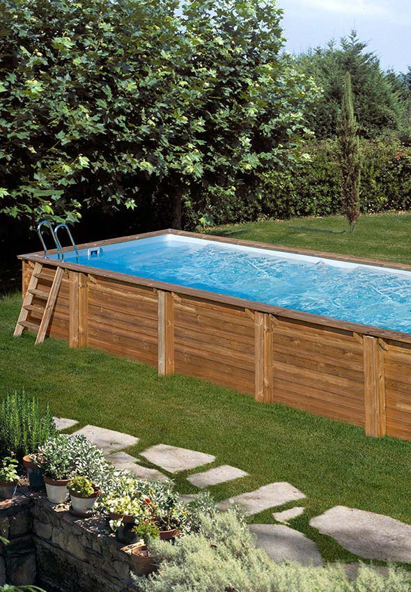 Filtro em piscina de pallet grande