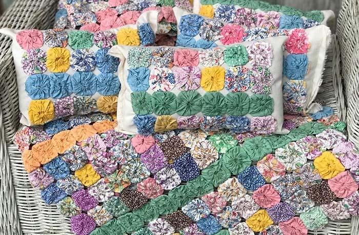 Colchas e almofadas em croche