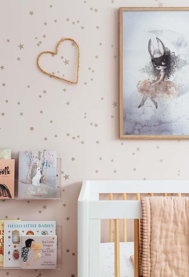 Invista em uma decoração auxiliar para ter um quarto lindo