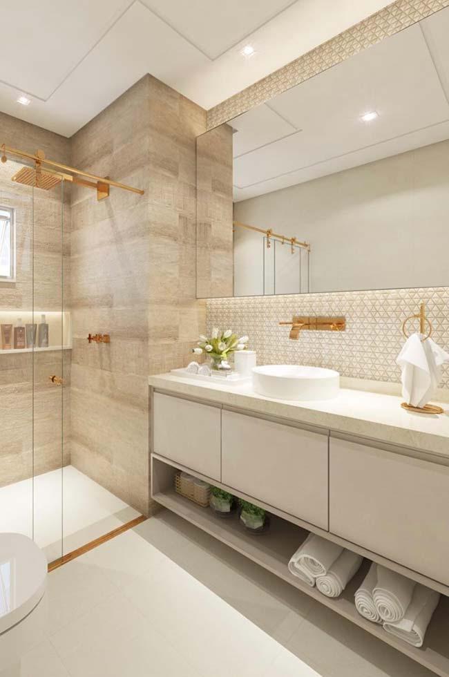 estilo sofisticado e elegante para o banheiro pequeno decorado
