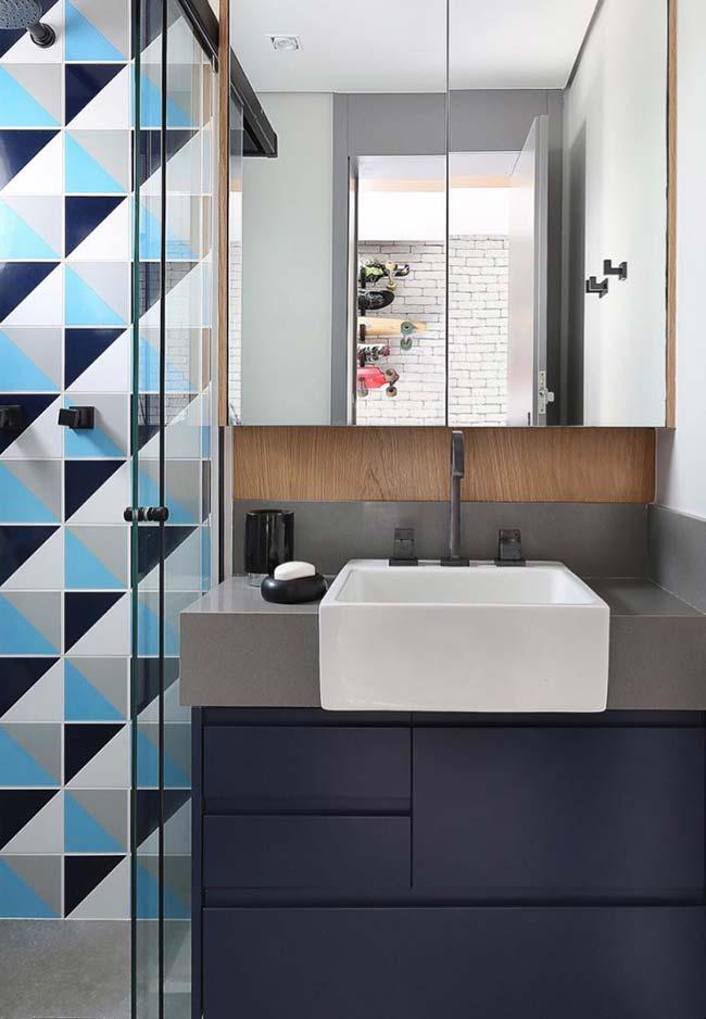 Combinação entre azul e cinza é perfeita para criar projetos de estilo moderno