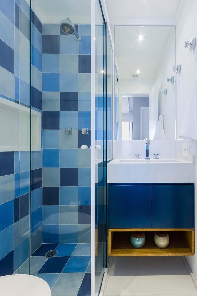 Banheiro pequeno decorado planejado