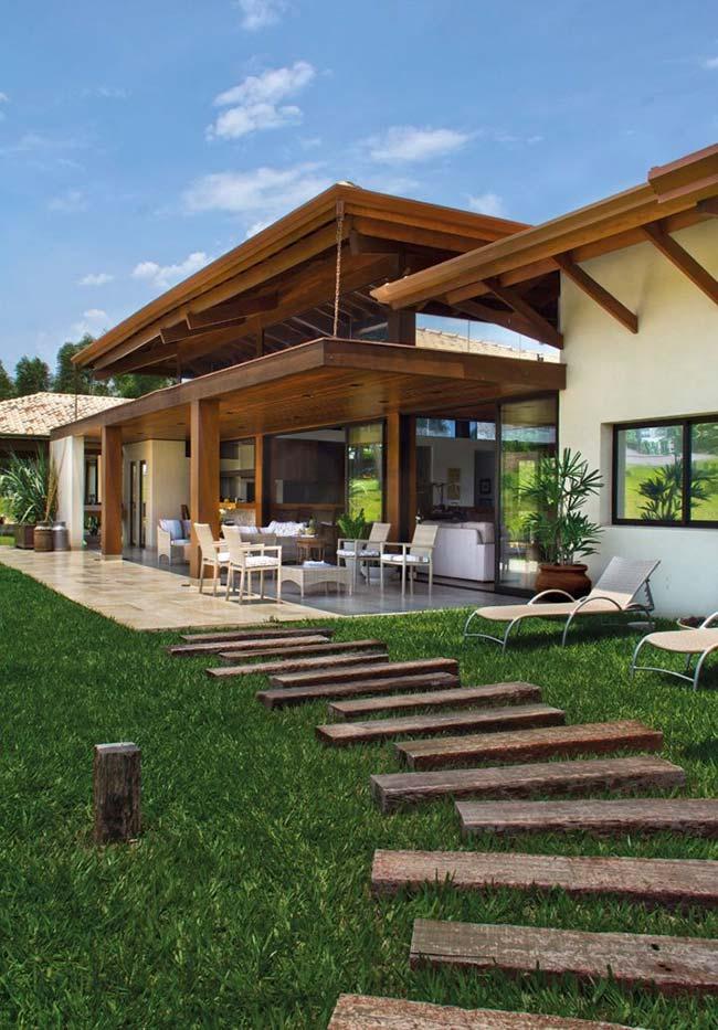Casa de fazenda com arquitetura arrojada