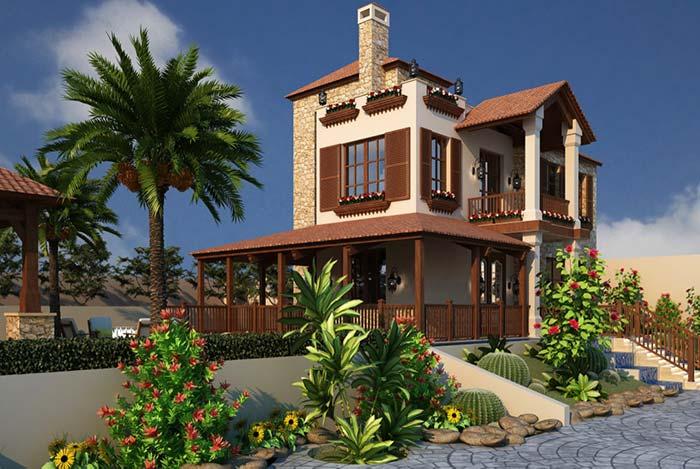 Casa de fazenda em estilo europeu