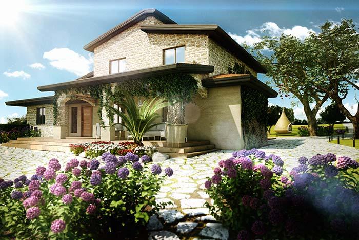 Casas de fazenda: uma casa de pedras em meio a natureza