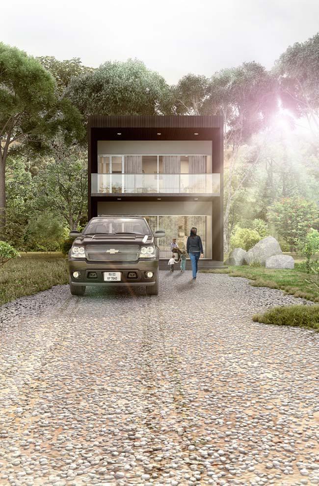 Casa sobrado de estilo moderno