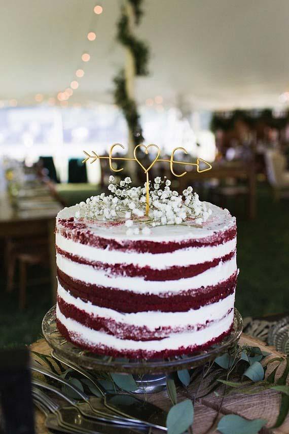 Bolo de casamento simples: Red Velvet