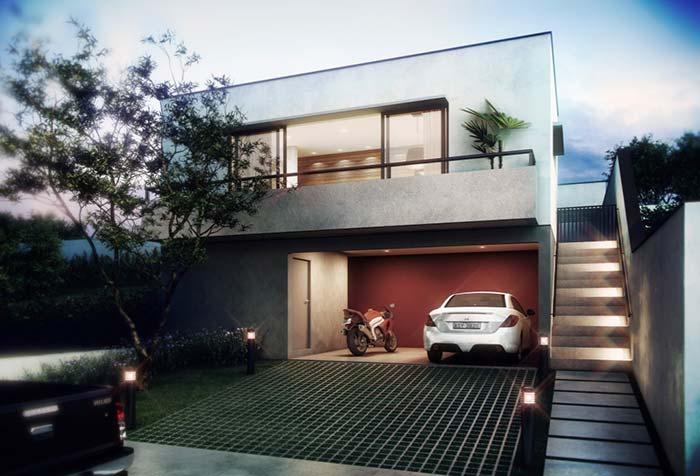 Casas planejadas: entrada pelo térreo ou pelo piso superior
