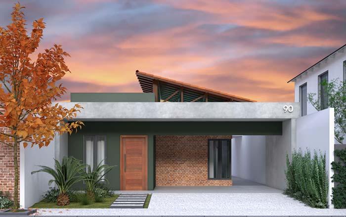 Casas planejadas: telhado americano de duas águas