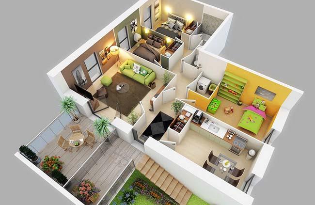 Casa planejada espaçosa