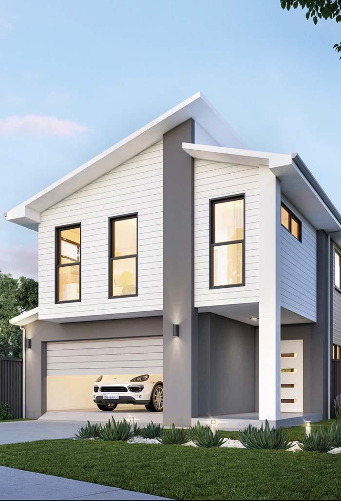 Cores e materiais da fachada também são definidos no projeto de casas planejadas