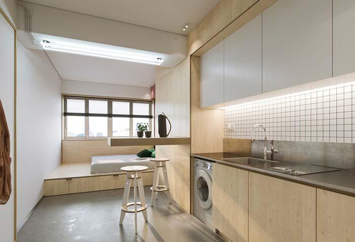 Casas planejadas com móveis retráteis