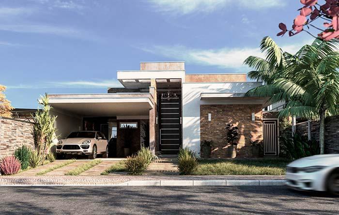 Casa planejada sem muros