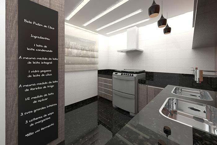 Cozinha de efeito espelhado
