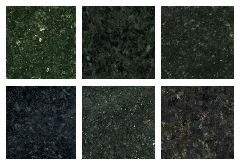 Tonalidades do granito Verde Ubatuba