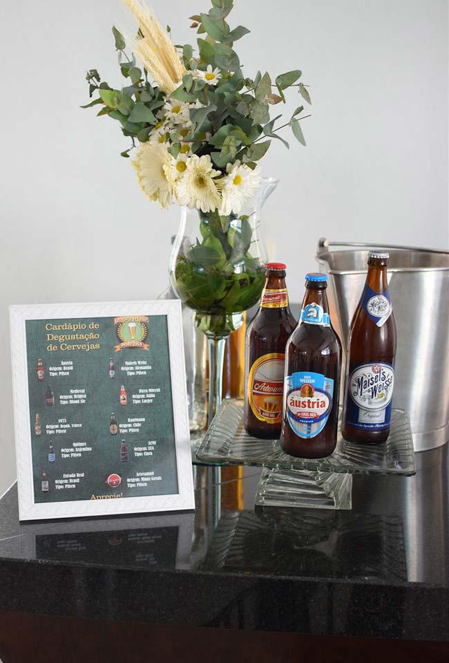Diferentes marcas de cerveja para a sua festa com temática boteco