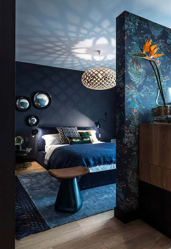 Mais misturas de padrões e texturas na decoração do quarto