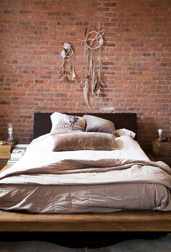 Decoração de quartos com estilo aparente