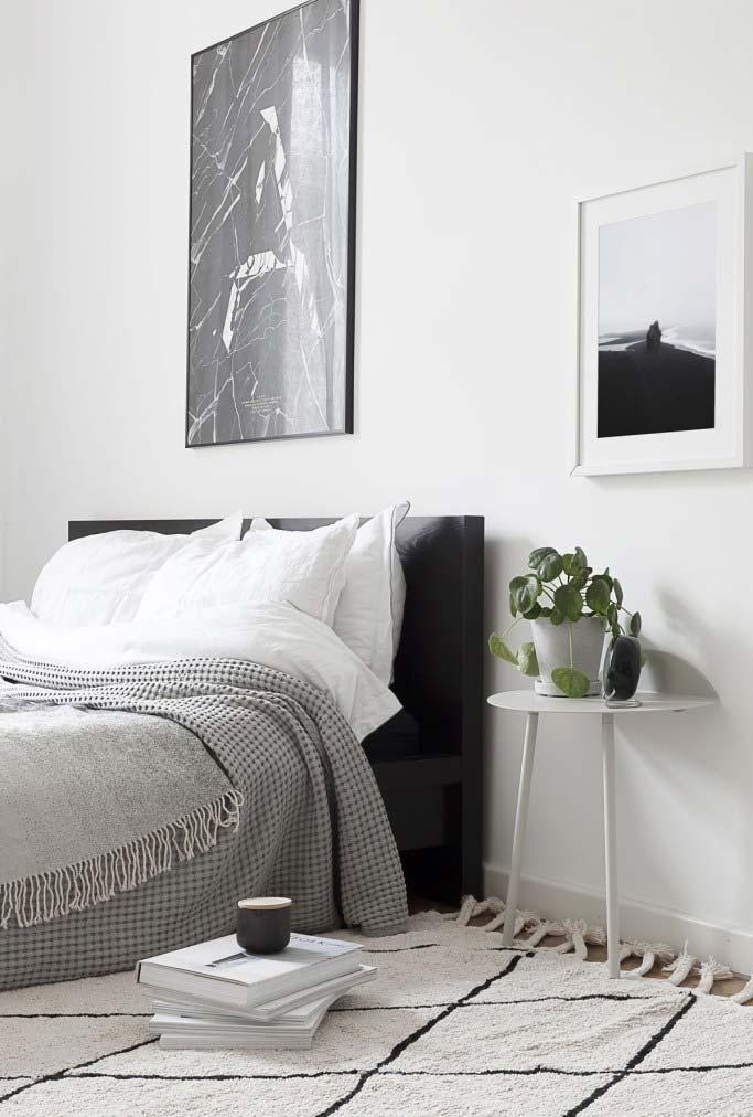 Ideia de decoração de quarto minimalista