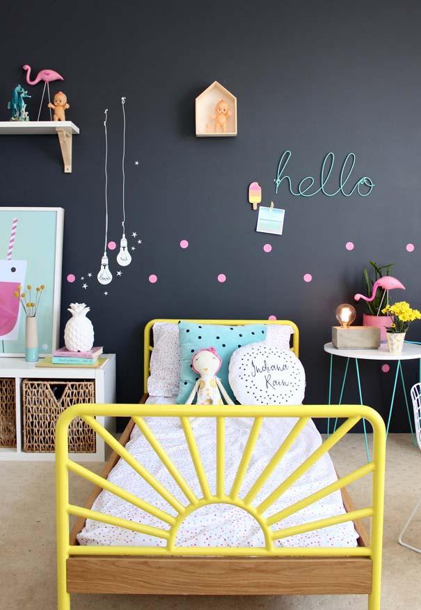 Decoração de quarto infantil super colorido