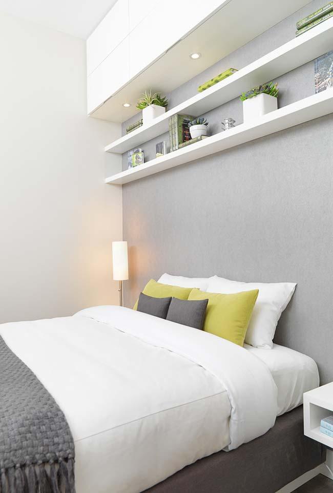 Decoração de quartos com prateleiras