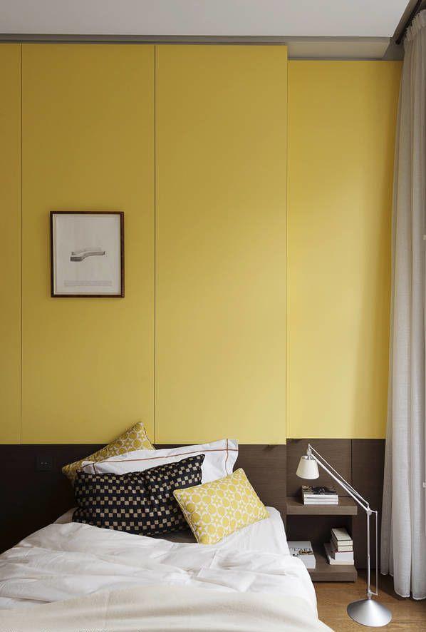 Amarelo na decoração de quarto