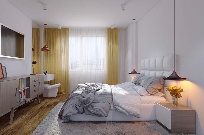 Cores para quarto: amarelo sóbrio e fechado