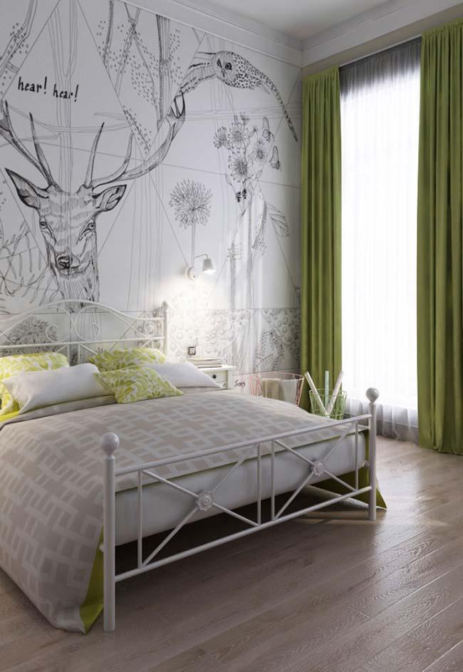 Cores para quarto com verde oliva