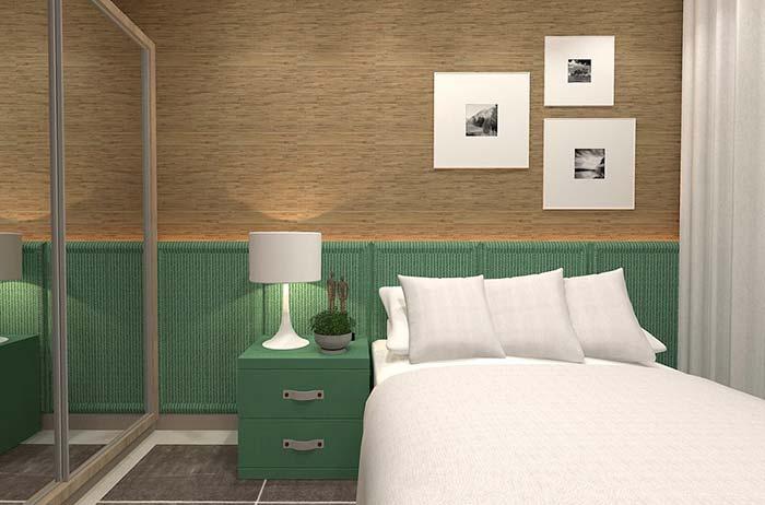 Verde na decoração do quarto