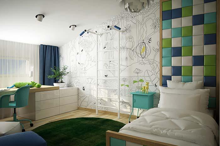 Tons cítricos na decoração do quarto juvenil