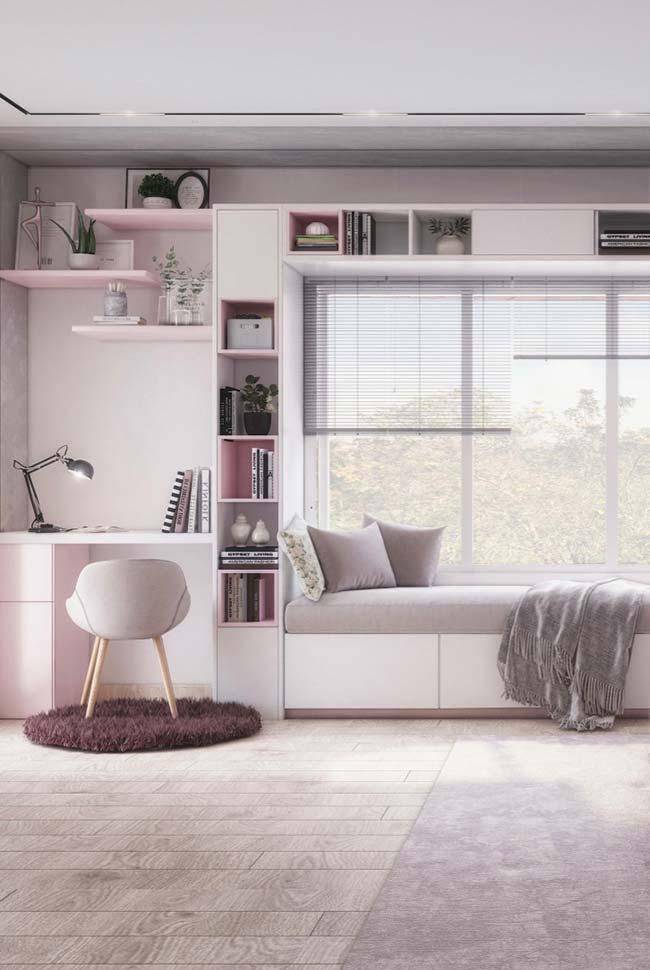 Cores para quarto com rosa e cinza