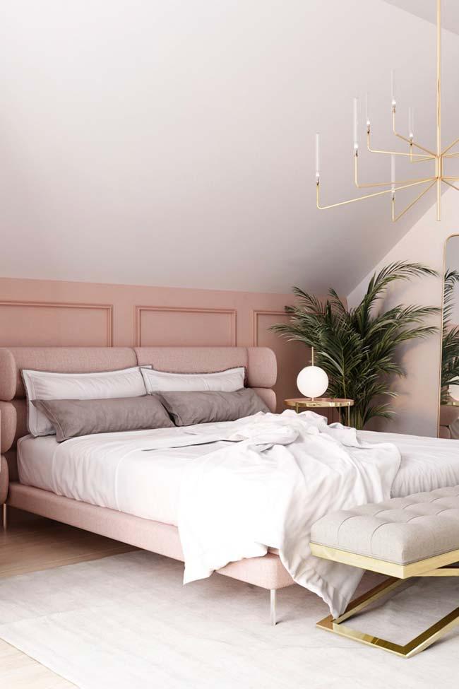 Cores para quarto com rosa suave e branco