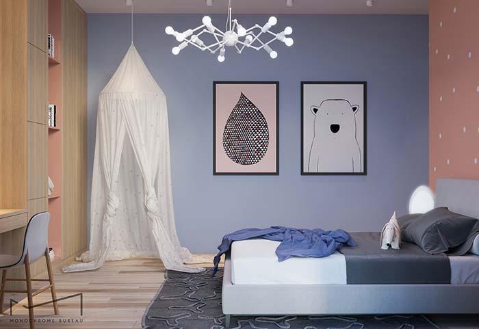 Lavanda na decoração do quarto