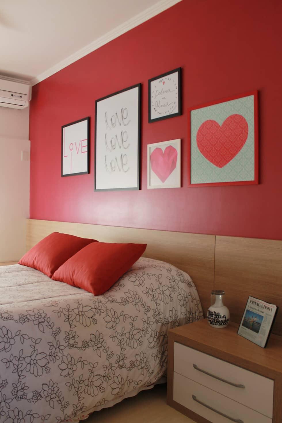 Cor da paixão no quarto de casal