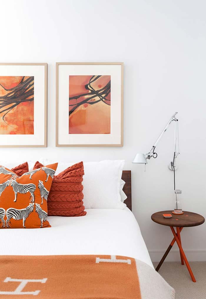 Cores para quarto com laranja e marrom