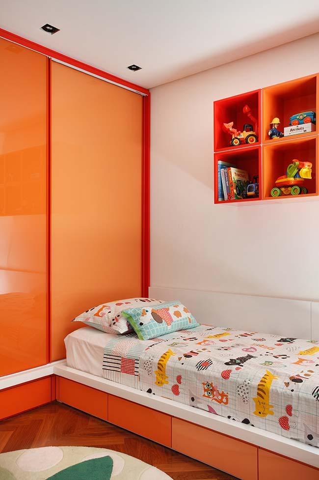 Cores para quarto juvenil com laranja
