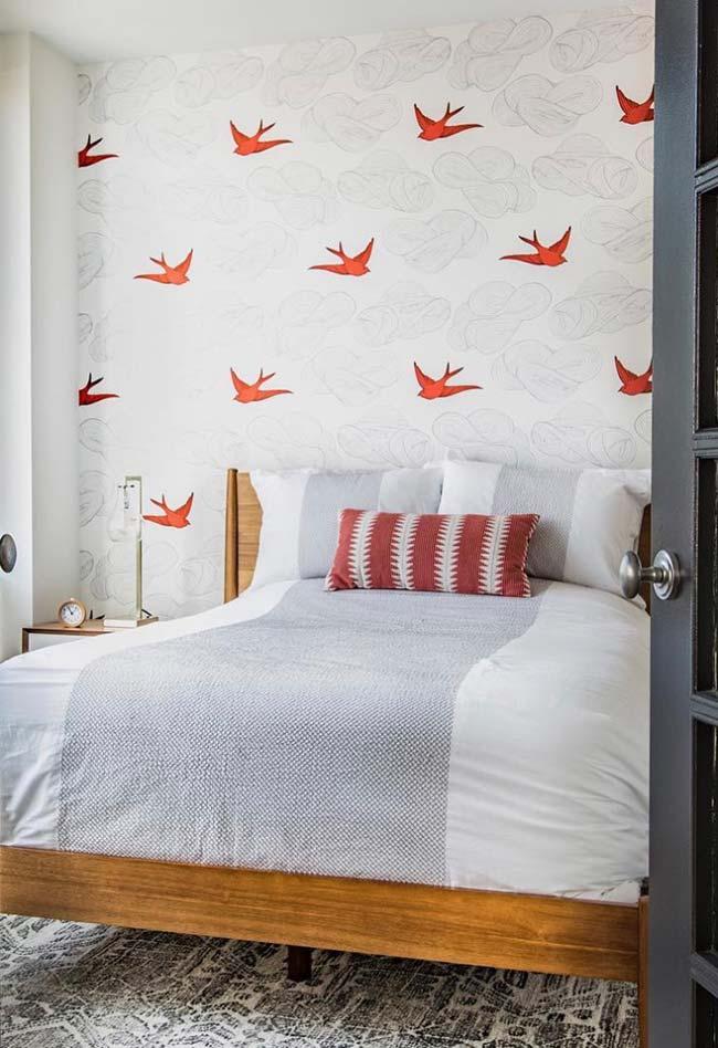 Pássaros na decoração do quarto de casal